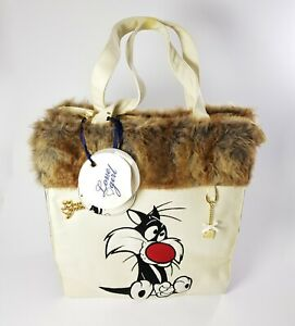 Large Bag Big Sylvester Jr. Embroidered With Fur Synthetic By Love Girl