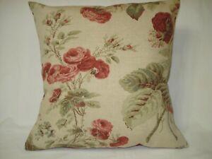 Martha Stewart Floral Decorative Accent Cushion Pillow Cover 14x14
