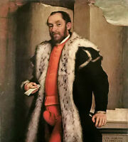 Art Oil painting Giovanni Battista Moroni Portrait of Antonio Navagero canvas
