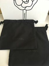CHANEL Authentic Black Makeup Tote Drawstring Bag Pouch Makeup Jewelry Set Of 2