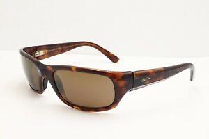 Maui Jim Stingray MJ 103-10 Wrap Tortoise Polarized Sunglasses Brown Lenses 55mm