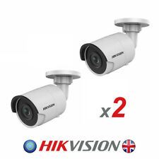 2 x Hikvision DS-2CD2045FWD-I 4 mm 4MP H.265+ Bullet Network Security Camera