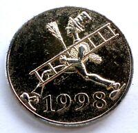 GERMANY, ICH BRINGE GLUCK 1998 Good Luck Token 23mm 5.2g Brass MM10.2