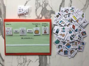 PECS/Boardmaker Day Planner + Folder & 150 Cards for Autism/ASD/ADHD/SEN