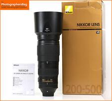 Nikon Af-s Nikkor 200-500mm F5.6E Ed Vr Af Lente Gratis Reino Unido Pp