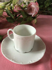 GRUPPO Rosenthal Classic Rose Monbijou Bianco in Rilievo Espresso Cup & Saucer Set