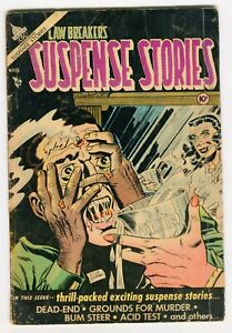 Law Breakers Suspense Stories #15 .  Classic acid in face cover.