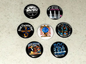 "Blue Oyster Cult Button 7 1"" Buttons Pin Pins Badge Badges Shirts Albums - Lot F"