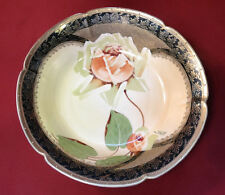 Imperial Crown China Austria Hand Painted ARTISTIC Rose Lg Signed Bowl-De Vries