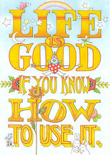 Mary Engelbreit-Life Is Good If You Use It-Blank Greeting Card w/Envelope-New!