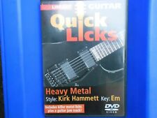 Lick Library Quick Licks Heavy Metal In The Style of Kirk Hammett Guitar DVD