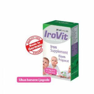IROVIT ORAL DROPS FOR CHILDREN 30ml 4,5mg iron