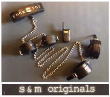 Bondage collar hand cuffs BDSM restraints kit shackles Electrosex fetishwear