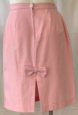 Wiggle Skirt Pink Size 10 with Back Vent and Bow Handcrafted Vintage Womens