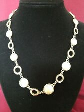 VINTAGE ANNE KLEIN SILVER  CHAIN LINK CHOKER  Necklace PEARLY