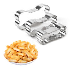 3Pcs Stainless Steel Dog Bone Cookie Cutter Biscuit Fondant Pastry Baking Tool