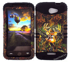 KoolKase Hybrid Silicone Cover Case for HTC One X S720e - Camo Mossy Deer