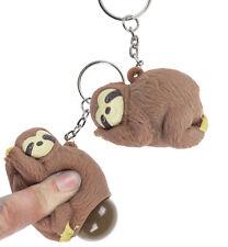 Porte clés paresseux qui fait caca - Squeeze pop fart animal sloth