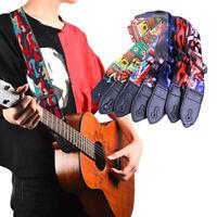 verstellbare multi - farbe gitarrengurt blaue beleuchtung bass - gürtel nylon.