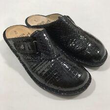 "Finn Comfort ""ORB"" Clogs, Black Croc 38"