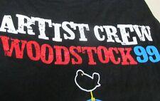 Woodstock 99 Festival Concert Artist Crew t-Shirt XL,Black,Like NEW Heavy Cotton