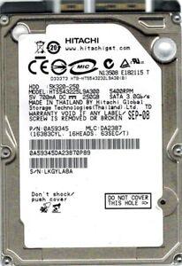 Hitachi HTS543225L9A300 P/N: 0A59345 MLC: DA2387 250GB