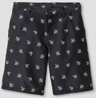 NWT C9 CHAMPION Boys golf/athletic shorts-Black w/white paper planes L(12/14)