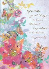 PAPYRUS GRADUATION CARD NIP MSRP $5.95 BUTTERFLY CARD (K3)