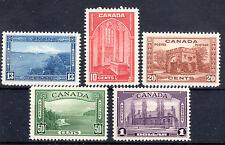 Canada 5 excellent items 1937-38 Cat £185 lmmint