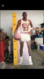 MICHAEL JORDAN 1987 LIFE SIZE MEASURE UP CARDBOARD CUT OUT STANDEE/STAND UP HTF!