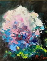 flowers still life impressionism fauvism Oil PAINTING collectible texture