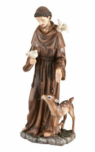 """St. Francis of Assisi Decorative Garden Statue, Weather-Resistant Resin, 16"""""""