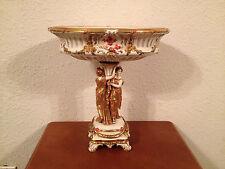 Antique German Volkstedt Large Porcelain Centerpiece Women & Gilt Decoration