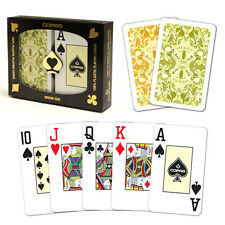 New COPAG 100% Plastic Playing Cards Saraswati Bridge Jumbo Index FREE CUT