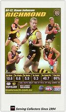 2007 AFL Teamcoach Trading Card GOLD Best & Fairest BF12 Kane Johnson