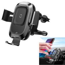 Qi Auto Air Vent Wireless Telefon Ladegerät Halter für iPhone 6 7 Xs Max Samsung