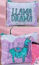 Llama Sequined Makeup/ Cosmetic Reversible Bag / Coin