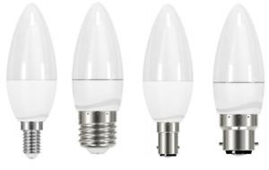 Energy Saving LED Candle Shape 5w=40w Light Bulbs SES E14 BC B22 SBC B15 ES E27
