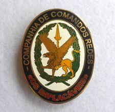 """Portuguese military army COMPANHIA DE COMANDOS REDES """"OS IMPLACÁVEIS"""" badge"""
