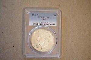 1973-S $1 Silver Ike Eisenhower Dollar PCGS MS67