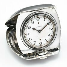 Antique Tiffany & Co Sterling Silver 8 Days Concord Watch Travel Clock 202.4G