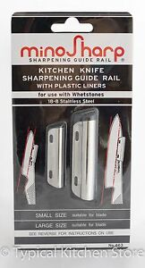 MinoSharp Sharpener Guide Rail Global Knives whetstone
