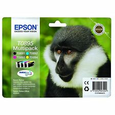 Epson Original T0895 Monkey Multipack Ink Cartridges for Styus SX105 S20 SX100