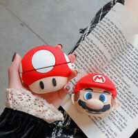 3D Super Mario Silicone With Hook For Airpod Pro 1st & 2nd Generation Case Cover