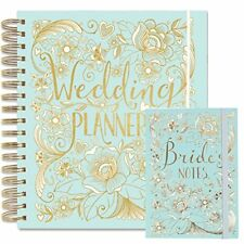 Wedding Planner Duck Egg Blue Engagement Gift With Sections Checklist