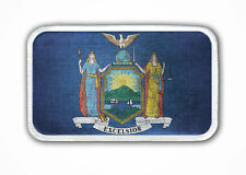 New York State Flag Heat Seal Patch - Iron on Patch: jackets, shirts & hats