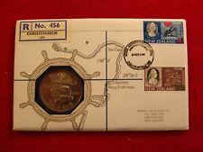 Nuphil Nu28 New Zealand Captain Cook Bicentenary Medal FDC, #456 of 800 produced