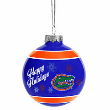 Florida Gators NCAA Holiday Christmas Ornament Glass Ball Forever Collectibles