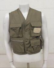 Eddie Bauer Brown Lined Fishing Vest Men's Large Satisfaction Guaranteed GREAT