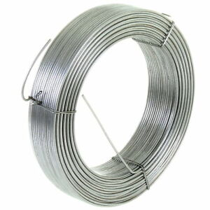 GALVANISED STEEL TENSION STRAINING LINE WIRE FENCING CHAIN LINK 100M x 2.5MM 4KG